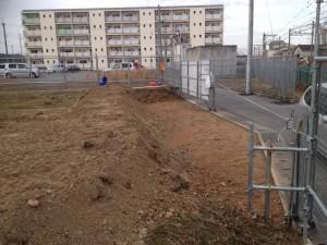 駐車場掘削1