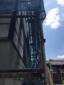 東大阪市「石切の家」・・・外装工事がスタート