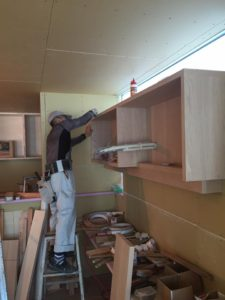 神戸市西区「H邸新築工事」///造作家具…大工さんの作業は着々と !