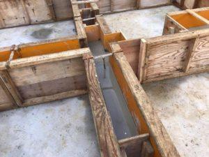 芦屋市「芦屋の家」基礎の立上がりコンクリートを打設