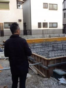 神戸市東灘区「魚崎の家」今日は配筋検査です