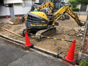 「神戸市F邸新築工事」解体工事もほぼ終わりです