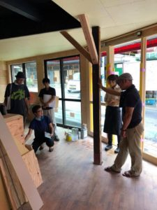 大阪府豊能郡豊能町「かめたに本店改修工事」完成に向けダッシュです。