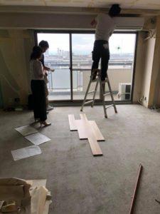 芦屋市某所でマンション改修工事