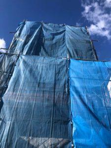 西宮市の北夙川で外壁の改修工事やってます!