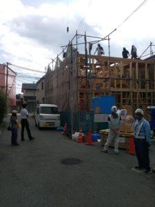 明石市「I邸新築工事」本日、上棟デス!