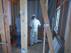 芦屋市H町では昨日、建築確認申請の中間検査が行われました❗